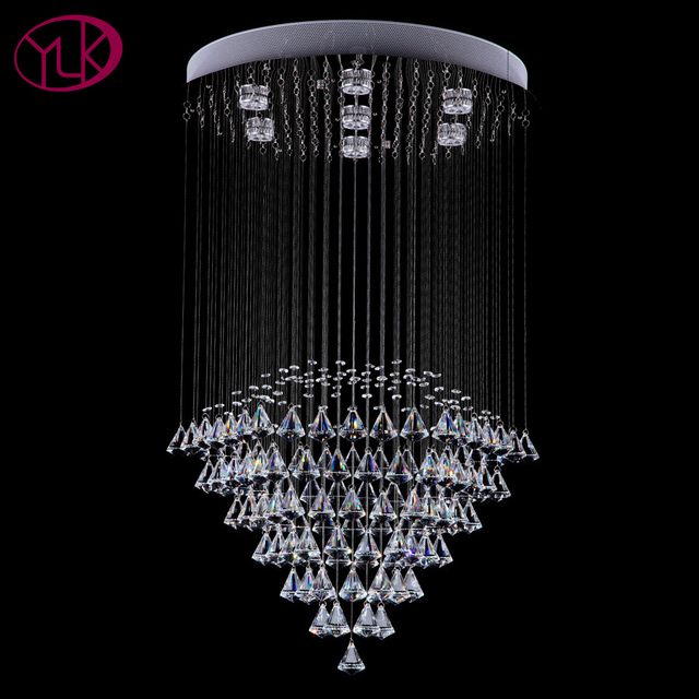 Modern round crystal chandelier living dining room led lighting modern round crystal chandelier living dining room led lighting chandeliers flush mount string light fixture cristal aloadofball Choice Image