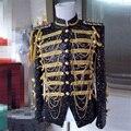 Лучший Этап Одежда с Кисточкой Хлопок Материал Мода Одежда Черный Цвет Ночной Клуб Производительности Одежды DH-024