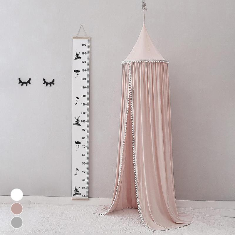 Baby Bed Curtain Children Room Decoration Crib Netting Baby Tent Cotton Hung Dome Baby Mosquito Net Photography Props R4