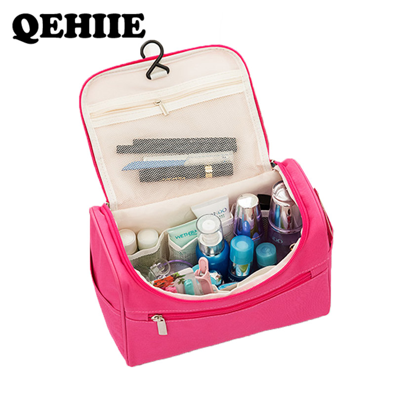 Women Waterproof Makeup Bag Travel Organizer Pouch Unisex Cosmetic Bag Hanging Toilet Washing Toiletry Kits Storage Bags