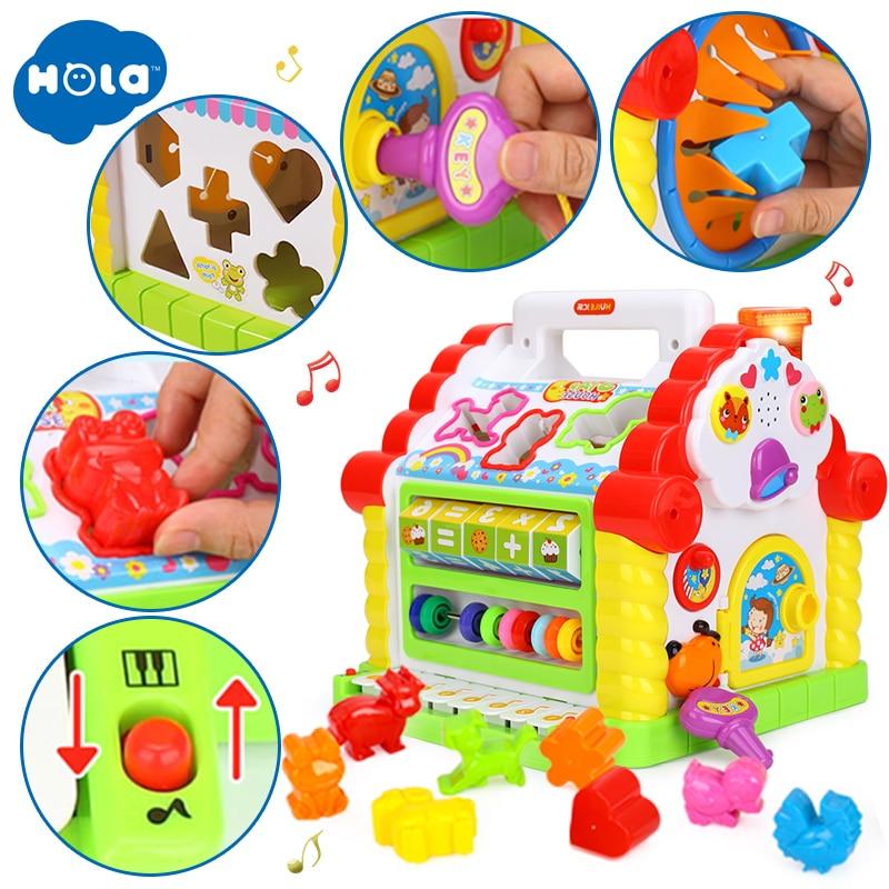 Baby multifunksjonelle musikalske leker Fargelagt hus Mange slags - Læring og utdanning