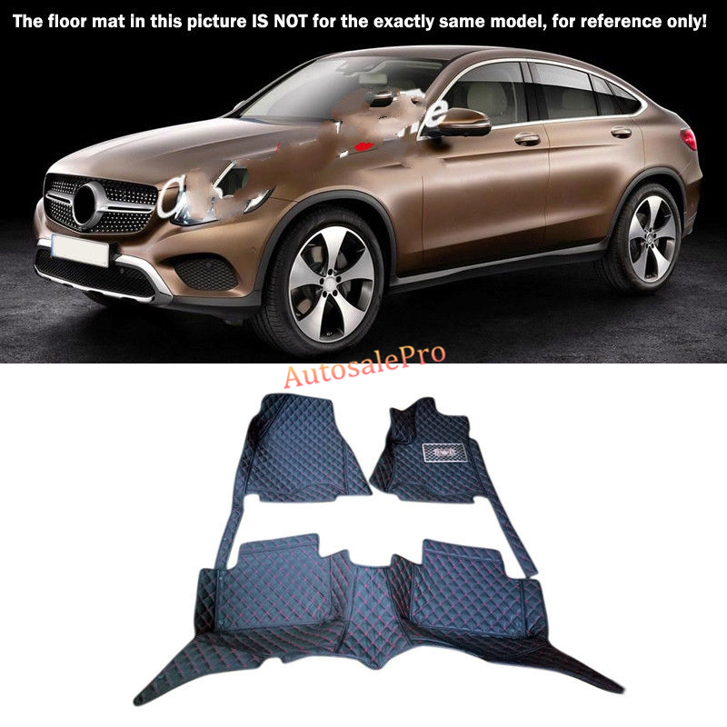 For Mercedes Benz GLC X205 2016 2017 Right & Left Hand Drive Black Front Rear Floor Mat Carpets Pad cover for mercedes benz c class w204 2008 2009 2010 2011 2012 2013 right left hand drive black front rear floor mat carpets pad cover