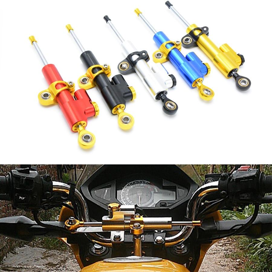 Универсальный мотоциклов рулевой демпфер Мото Стабилизатор Линейный контроль безопасности для Suzuki GSXR 600 750 1000 1300 1000 250р GSXS z800 для