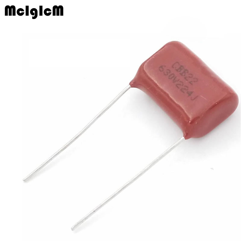 MCIGICM 1000 pcs 220nF 224 630V CBB Polypropylene film capacitor pitch 15mm 224 220nF 630V