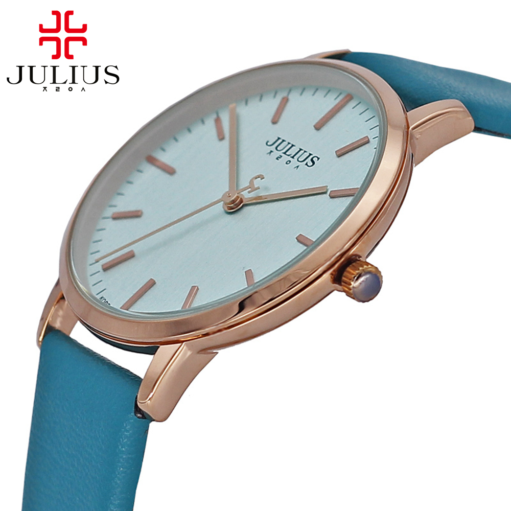 цены  Men classic best simple fashion casual quartz wrist watch Unisex business leather steel round watches Famous Julius 922 original
