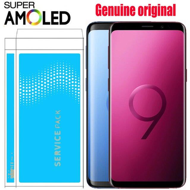 ORIGINAL SUPER AMOLED pantalla LCD con marco para SAMSUNG Galaxy S9 S9 + Plus + G960 G965 pantalla digitalizador de pantalla táctil con paquete de Servicio