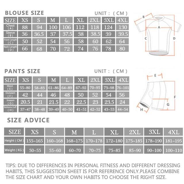 Venda Direta Da fábrica/2019 ropa ciclismo Ciclismo Jerseys Terno Mtb Ciclismo Roupas de Ciclismo Quick Dry Respirável Ciclismo Sportswear 5