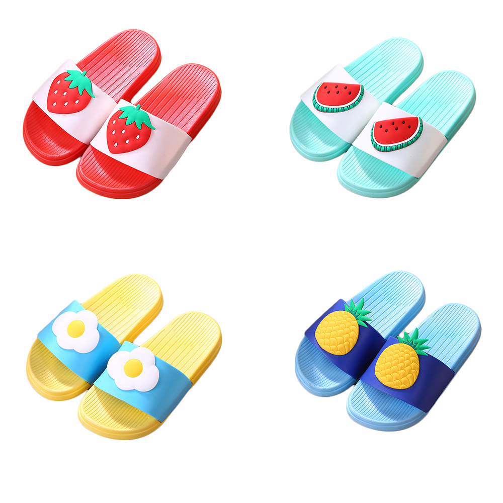 Kids Girls Beach Pool Shoe Slippers Bathroom Non-slip Slippers Fruit Sandals Shoes Casual Slippers For Kids Outdoor Garden Shoes