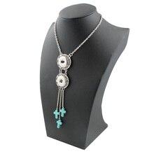 5Pcs/lot 2017 Cross Classic Metallic Tassel Pendant Necklace Chain 18mm Xinnver Snap Button Jewellery OEM, ODM Watches Ladies ZG074