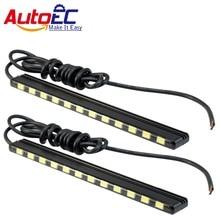 Autoec светодио дный днем ходовые огни DRL 15/18/21/24 smd 5630 светодио дный s дневной свет светодио дный газа лампы 7000 К для авто # LM150