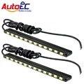 AutoEC Led Daytime Running Luz DRL 15/18/21/24 smd 5630 leds tira do diodo emissor de luz do dia luz de nevoeiro lâmpada 7000 k para car auto # LM150