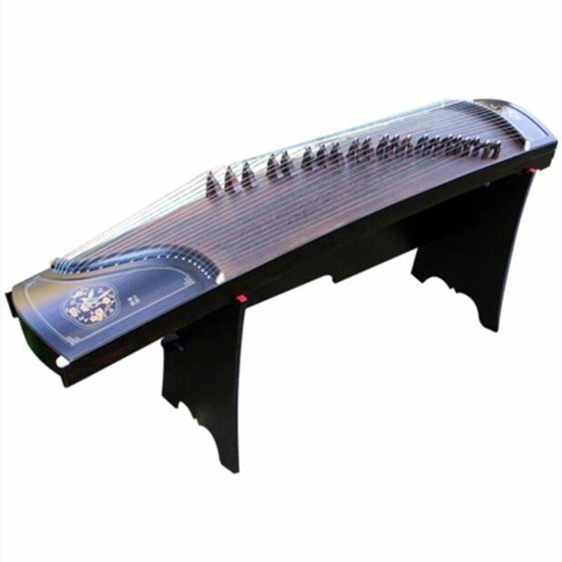 Coquilles professionnelles creusement performance chine Guzheng musique ébène bois argent fil cithare 21 cordes avec accessoires complets