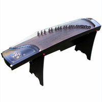Professional Shells Digging performance China Guzheng music Ebony Wood Silver wire Zither 21 Strings With Full Accessories