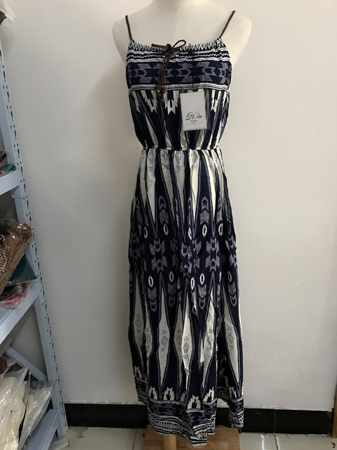 Summer Dress Sexy Bohemian Beach Dresses Pleated Maxi