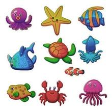 10 Pcs Bath Tub Stickers Non-skid Shower Waterproof Sticker Ocean Fish Anti-Slip Adhesive Bathroom Decoration Tools