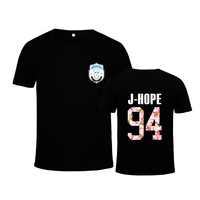 HPEIYPEI KPOP Korean Fashion BTS 2th Album WINGS Bangtan Boys Hip Hop HipHop Monster Cotton Tshirt