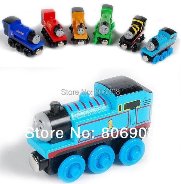 ,Hot 92 style 5pieces/lot Thomas Tank Engine Wooden TRAIN &CAR,Thomas friends train car toy - No 1 Retail Shop store