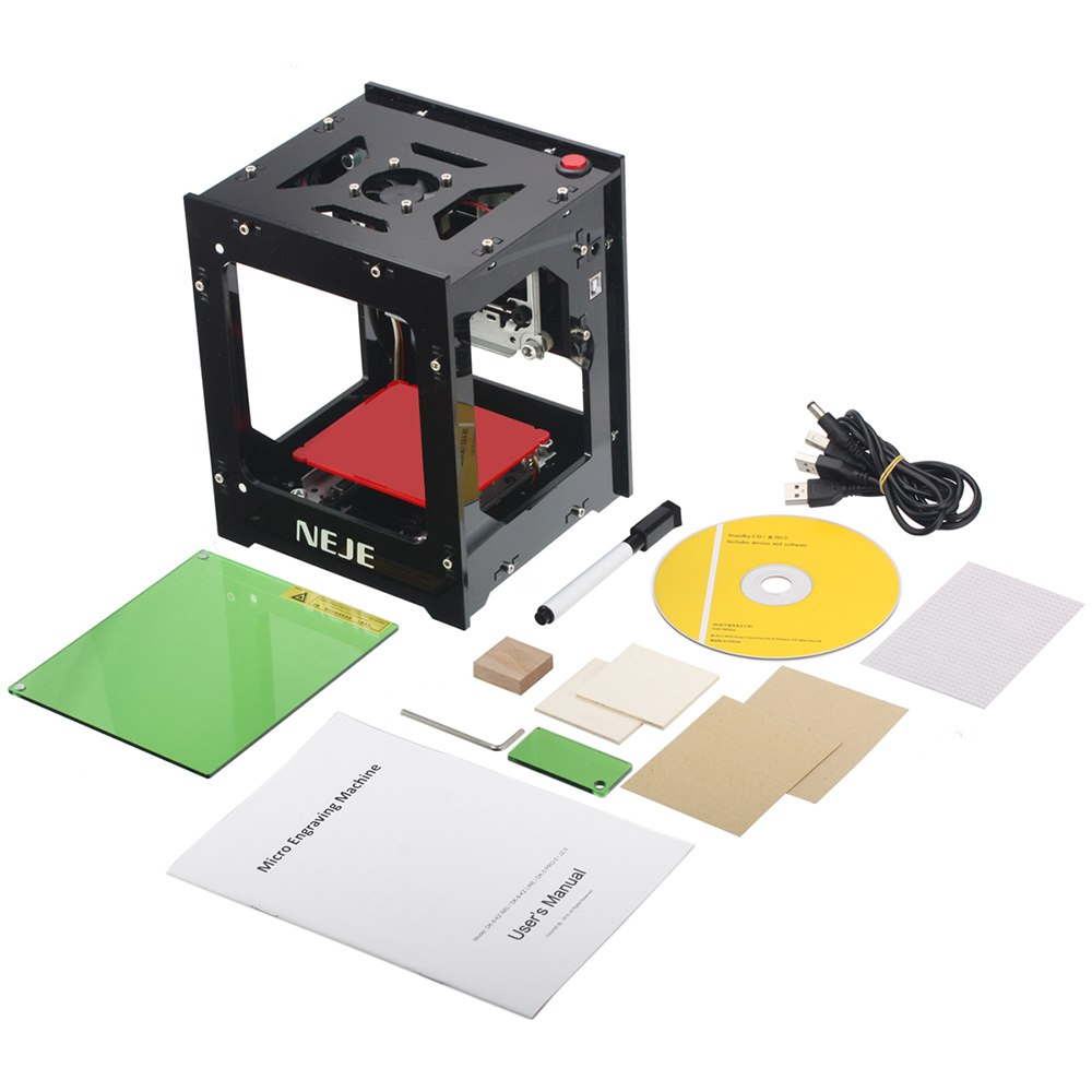 1000mW cnc router Automatic DIY laser cutter laser engraver cnc laser engraving machine USB Off line Operation + protect Glasses