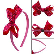 Fashion Prom Party Hair Flower Accessories bands for girls Big Bow Headband