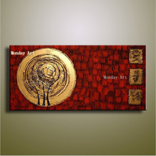 New Hand Painted Abstract Gold Art painting big canvas wall art Wall Picture Handmade Golden Canvas Oil Painting for Home Decor