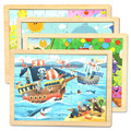 40*30*1CM Kids Toy Wooden Puzzles Cartoon Puzzle Wooden Toys Education Early Learning Gift