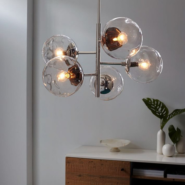 North Molecule Glass Ball Bedroom Pendant Light Modo Personality Bubble Bar  Stair Dining Room Light Fixtures