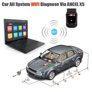 Image 4 - Ancel X5 Pro OBD2 Code Reader Full System Car Diagnostic Tool Support 22 Languages 72 Car Makers Free Update Online OBD  Scanner