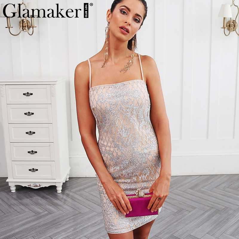 b824af8ef3450 Detail Feedback Questions about Glamaker Sequin sexy mini sundress ...