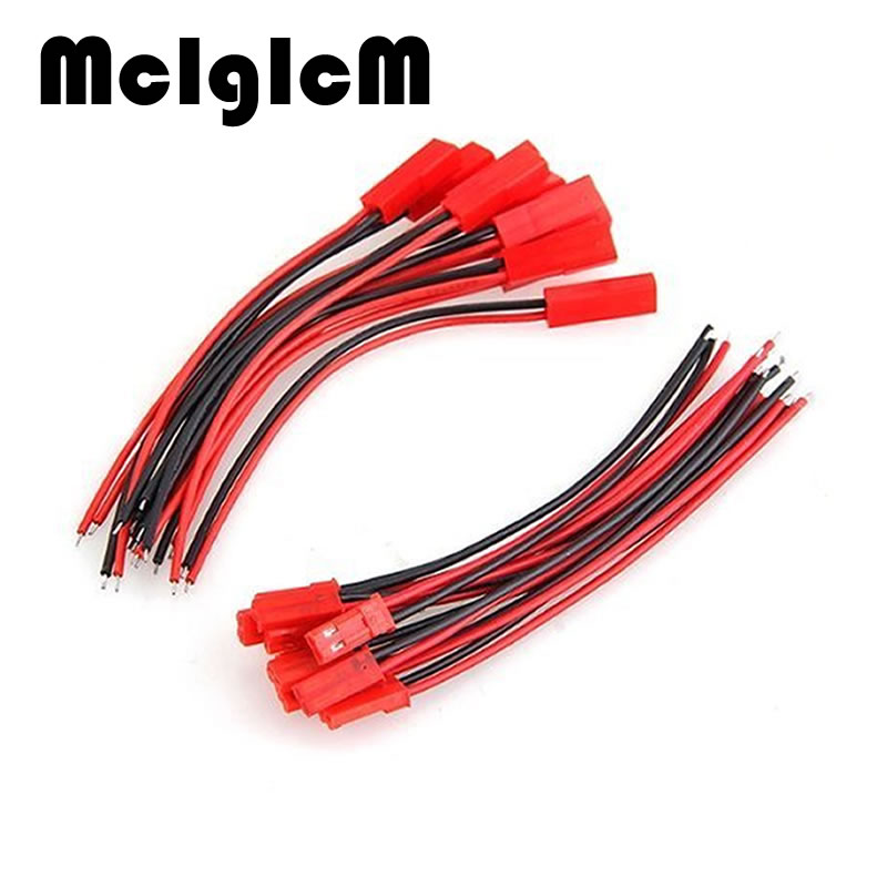 15 Pairs Good Quality JST Connector Plug Cable Male and Female 100mm / 150mm for RC Battery Free Shipping