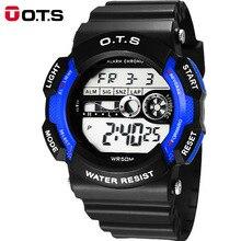 OTS reloj de los niños del niño chica estudiante impermeable reloj electrónico reloj deportivo al aire libre función de alumnos