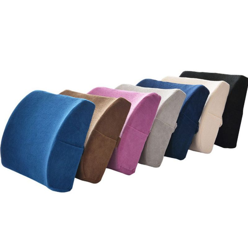 Back Waist seat Support Travel Pillow Car Seat Home Office Pillows Relieve Memory Foam Breathable Healthcare Lumbar Cushion