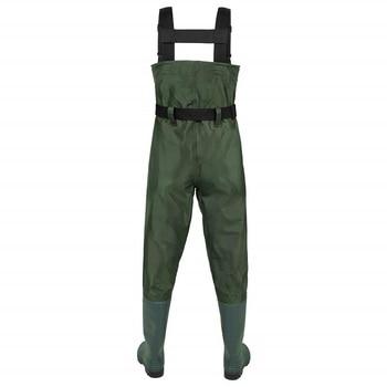 חליפת ניילון לדיג בימים חורפיים – כולל מגפיים מובנות ללא חדירת מים כלל