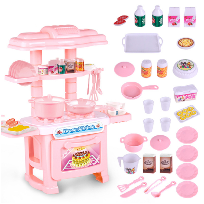 New Pink Or Blue Colour 1 Pcs/Set Baby Miniature Kitchen Plastic Pretend Play Kitchen Food Cooking Toy Set For Girl Game Gift D2