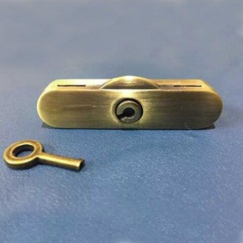 Centímetros de Bronze Mala por Sua Prendedor do Fechamento Trava Prendedor Fechamento Twist-bloqueio Crossbody 6.5 Vez