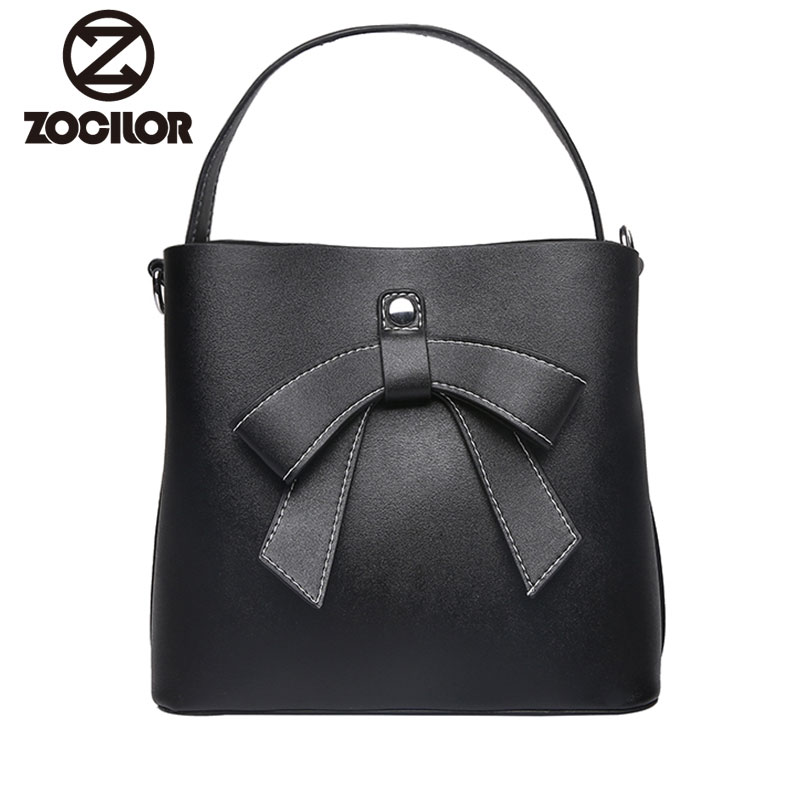 2018 new Fashion Bowknot Women Handbags Large Capacity Tote Bag PU Leather Shoulder Bag Crossbody Bags For Women bag sac a main weiju new canvas women handbag large capacity casual tote bag women men shoulder bag messenger crossbody bags sac a main