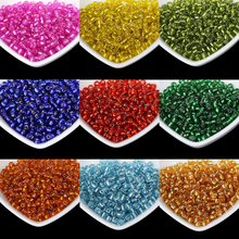 4MM Silver Lined Round Hole Czech Glass Seed Spacer Beads 500pcs/lot Austria Crystal Round Beads For Kids DIY Jewelry Making
