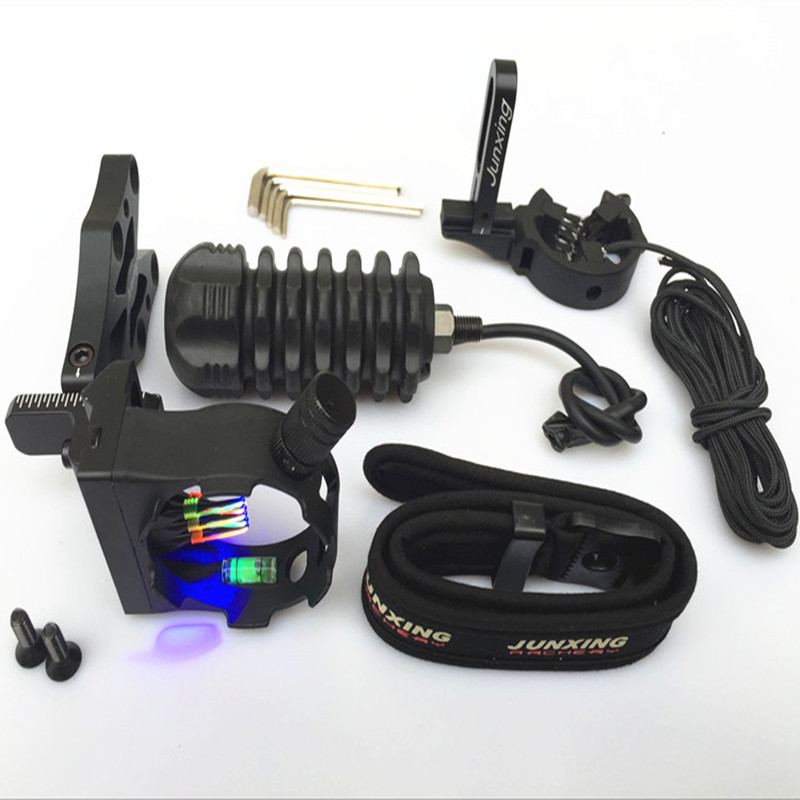 ФОТО High Quality Archery Combo Bow Sight,Arrow Rest,Rubber stablizer,Peep String,D-Loop,Wrist sling 6 in 1 Set provexyz
