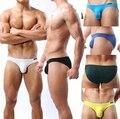 5pcs/lot Brave Person Sexy Men's Super Soft Mini Bikinis Short Underwear Bikini Briefs 6 Color Size S,M,L