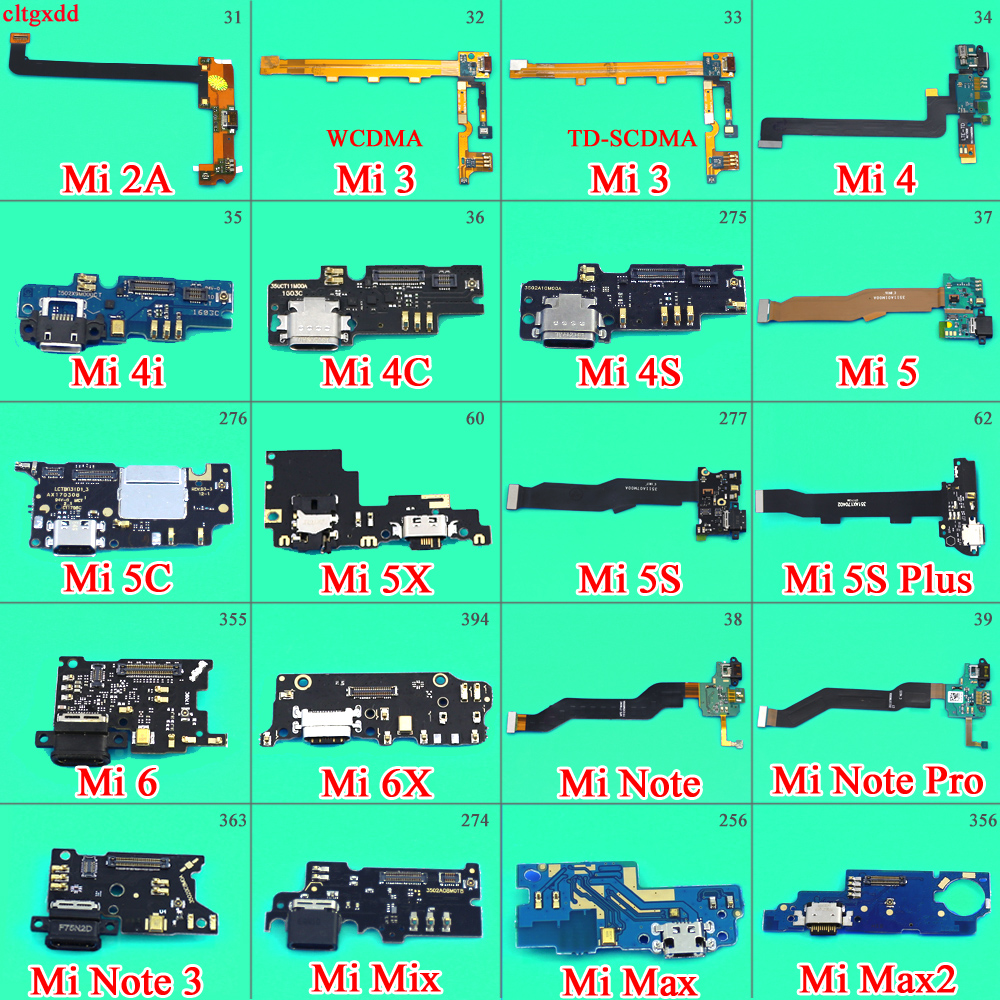 For Xiaomi Mi 4I 4C 4S 5X 5C 5S Max 2 Mix 6 6X Note 3 Micro Dock Connector With Microphone Board USB Charging Port Flex Cable