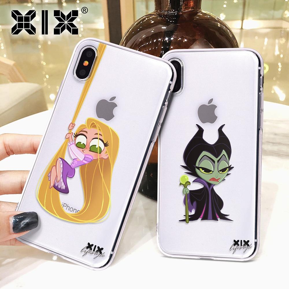 Xix para funda iphone 11 pro caso 5 5S 6 s 7 8 plus x xs max bonito princesa para capa iphone 7 caso tpu macio para iphone xr caso