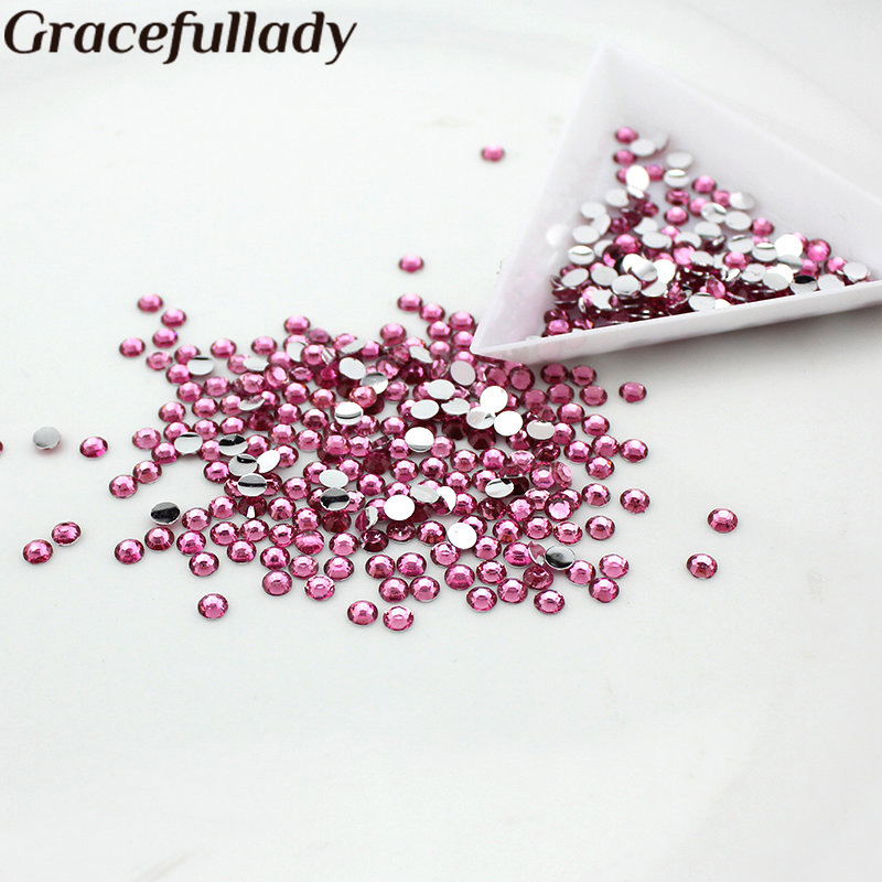 Wholesale 5mm 10000pcs/pack Resin Rhinestone Flatback Nail Art Garment rhinestone accessories cryatal clear color 1 5 20mm flat back round acrylic rhinestone acrylic resin 3d nail art garment rhinestone