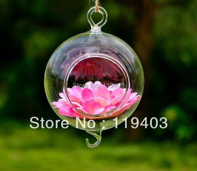 10pieces Hanging Glass Globes Orbs Air Plant Terrarium Tealight Holder Glass Vase ball