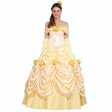 Cosplaydiy Beauty and the Beast Belle Princess Dress Wedding Party Dress Costume Version 2 W0516
