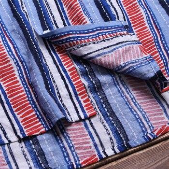 Short Sleeve Dress Shirt Striped Cotton