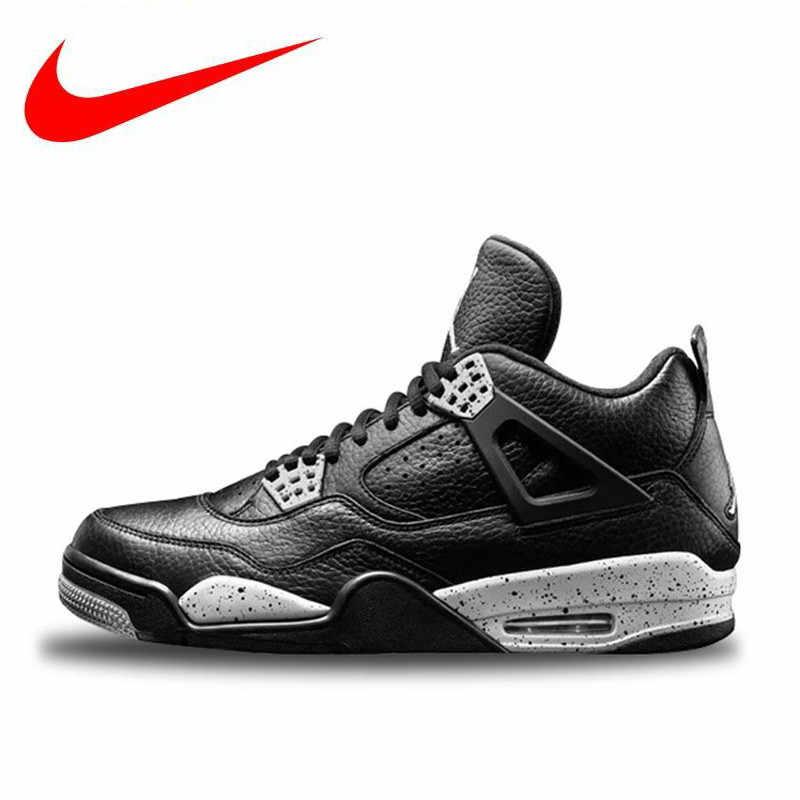 fa3299324bd3fa Hot Sales Original Nike Air Jordan 4 Oreo AJ4 Breathable Women s Basketball  Shoes
