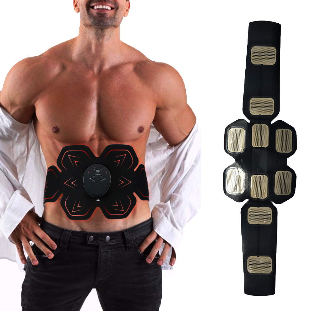 EMS Electric Vibration Abdominal Muscle Trainer Body Slimming Machine Fat Burning Fitness Massage Abdominal Loss Exercise Belt