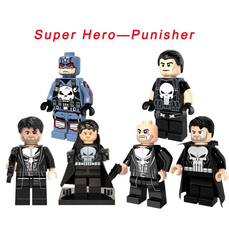 Thunderbolts Legoelys Punisher Super Heroes The Amazing Spider-Man Nick Fury Avengers Red Hulk Building Blocks Toys For Kids
