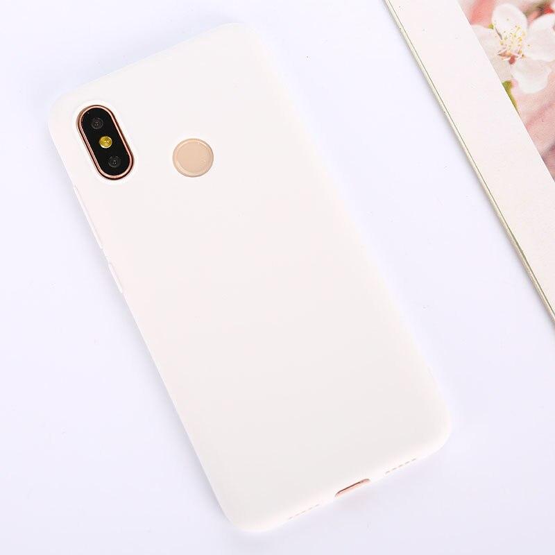 Цветной ТПУ силиконовый чехол для Xiao mi Red mi Note 6 5 7 8 Pro Red mi 7 6A 7A матовый чехол для Xiaomi mi 9 SE mi 9T mi 8 Lite mi A2 A1 A3 - Цвет: White