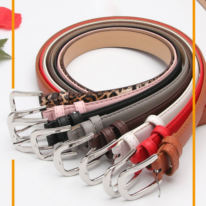 Ladies Faux Leather Gold Metal Pin Buckle Straps New Fashion Women's BeltWaistbands Female Cinturones Mujer Waist   Belts