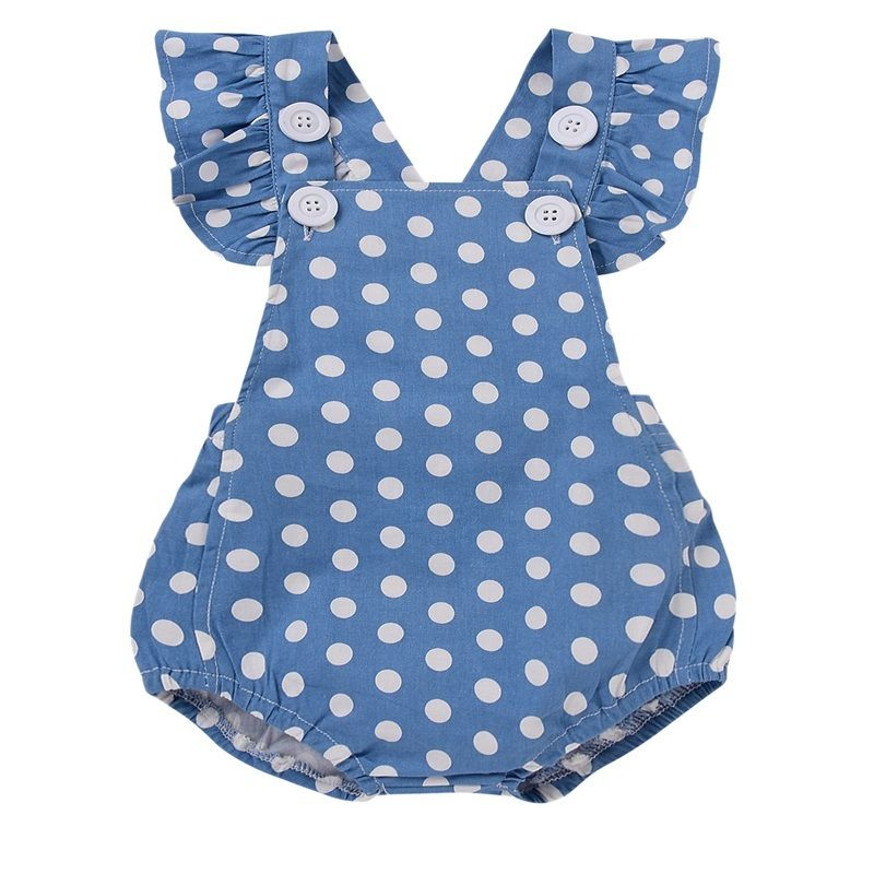 Cute Newborn Baby Rompers Summer Polka Dots Jumpsuit Toddler Baby Girl Romper Sleeveless Jumpsuit Infant Clothes Outfit Sunsuit newborn baby clothes cute cartoon baby rompers sleeveless one piece jumpsuit baby girl romper infant clothing baby costumes boys